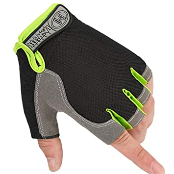 HALF FINGER COMFORTABLE WEIGHT LIFTING BODYBUILDING EXERCISE GYM FITNESS GLOVES