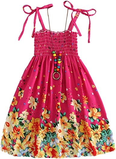 Hotiary Summer Baby Girls Floral Print Lace Rompers Dress Set with Headband Shoes
