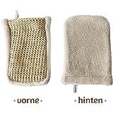 Sisal Massagehandschuh - Bio-Qualität - tiefgehender Peeling-Effekt durch grobe Struktur- Peeling am ganzen Körper. Made in Italy - Sarenius Premium Spa