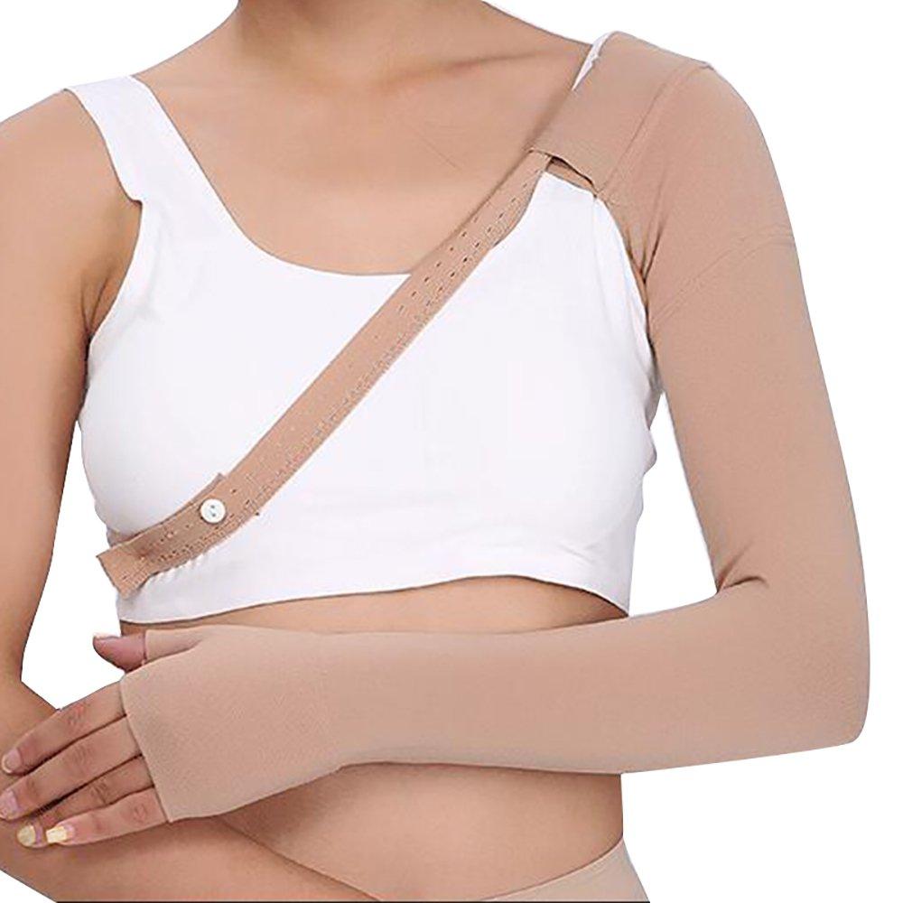 2b9a8b641c1d6 Amazon.com  Enshey 30~40 mmHg Post Mastectomy Compression Sleeve Anti  Swelling Glove Gauntlet Support Anti Edema Swelling Lymphedema (Left M)   Health ...
