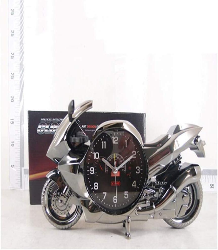 CZHJG Moto R/éveil Lit Paresseux Horloge Bureau Ornements Pratique Anniversaire Graduation Saison Cadeau Noir