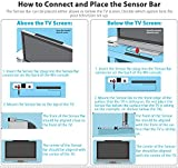 TraderPlus Wired Infrared IR Ray Motion Sensor Bar and AV Composite Cable for Nintendo Wii and Wii U Console