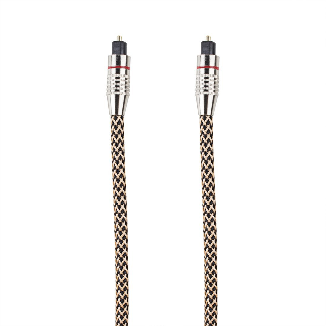 Amazon.com: eDealMax Cable de Audio óptico 3.3 Pies 1 Metros Macho a Macho chapado en níquel Con Cable de Metal Conectores OD 6mm Digital óptica alambre ...