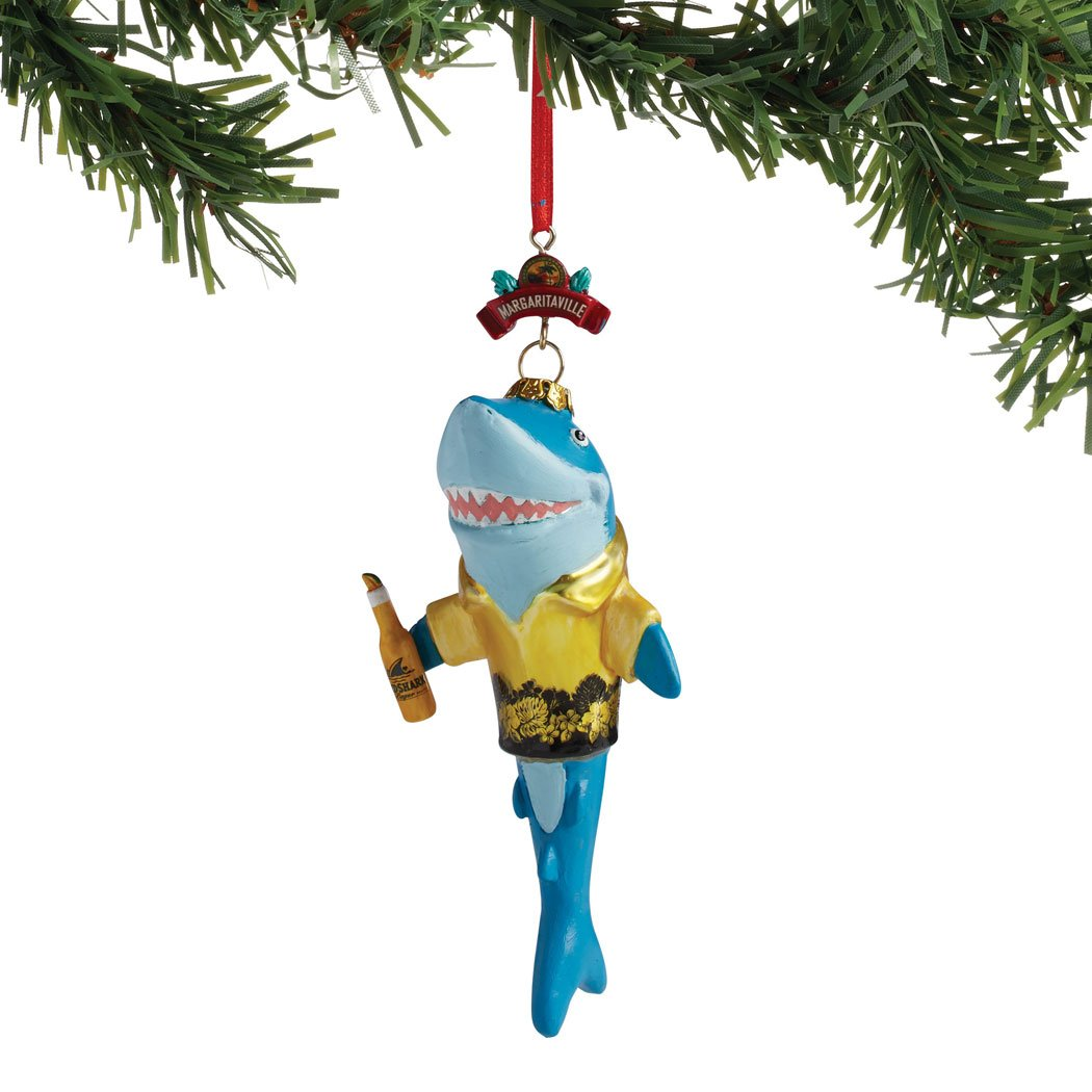 Department 56 Margaritaville Shark In A Shirt Hanging Ornament