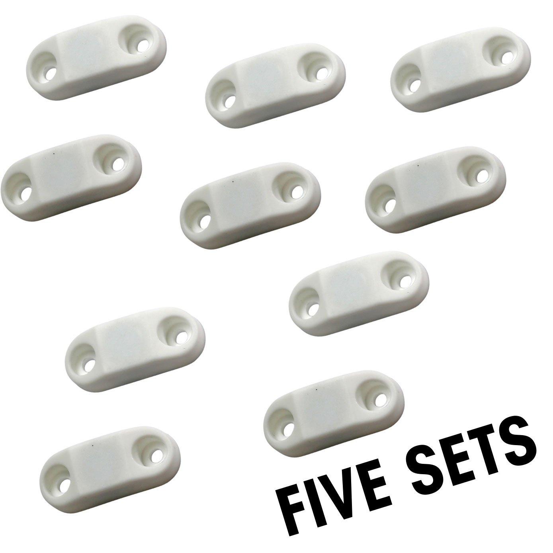 Hamilton Bowes #1 Strongest 2-Pair RV /& Trailer Magnetic Door//Baggage Door Catch Camper Black Plastic