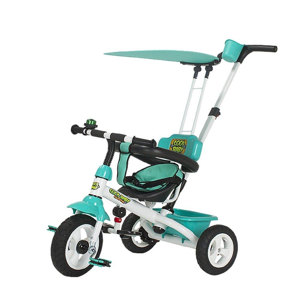 Fenfen Children 's Tricycles 1 – 6 Years Old Baby自転車ベビーベビーカーキッズバイク、グリーン/パープル/カラー、754994 CM B07C4K7W8Tグリーン
