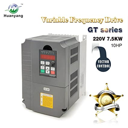Vector Control CNC VFD Variable Frequency Drive Controller Inverter Converter 220V 7.5KW 10HP For Spindle