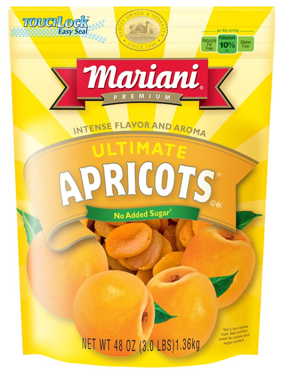 B002866SRS Mariani - Ultimate Apricots (48oz - Pack of 1) - Good source of Vitamin E and Potassium - Healthy Snack for Kids & Adults 61SVKVSeG-L