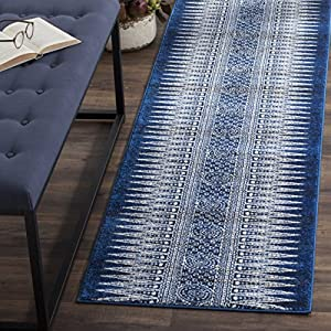 Safavieh Evoke Collection EVK226A Bohemian Vintage Royal Blue and Ivory Runner (2