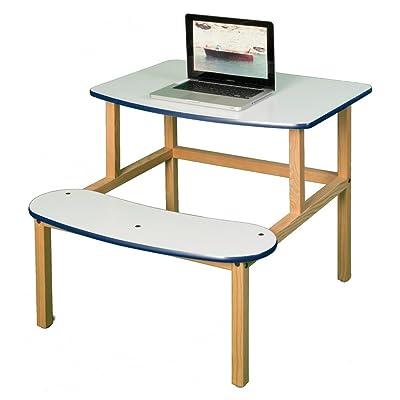 Wild Zoo Student Desk for 1 or 2 Kids - White: Home & Kitchen