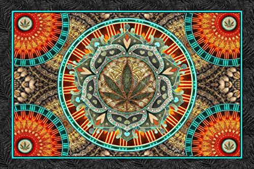 3D Marijuana Leaf Tapestry by Dan Morris