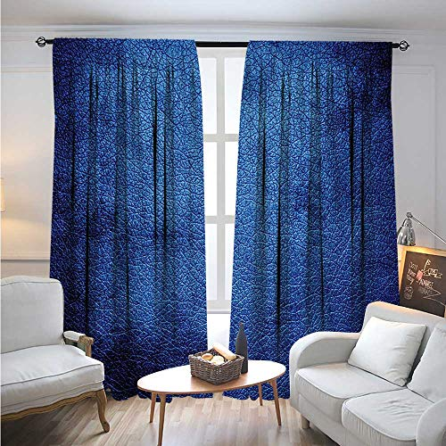 Navy BlueBlackout DrapesMartian Alien Skin Like Dark Blue Contemporary Interesting Space Design Art PrintDarkening Blackout Curtain W84 x L96 Dark Blue