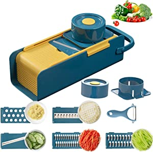Vegetable Chopper Slicer Dicer Multi-function Hanging Slicer Vegetable Cutter Grater for Onion Salad Potato Veggie Chopper Dicer