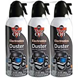 DUST-OFF DPSXL3 Falcon Compressed Gas (152a) Disposable Cleaning Duster 3 Count, 10 oz. Can, Black