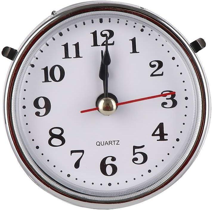 "Silver Trim QUARTZ CLOCK FIT-UP//Insert Roman Numeral White Face 65mm 2-1//2/"""