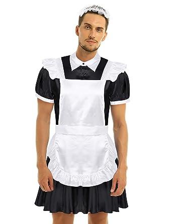 CHICTRY Disfraz Erotico para Hombre Sexy Uniforme de Francés Maid ...