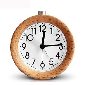 LMSHM Despertador Reloj Despertador Snooze Reloj De Noche Retroiluminación Aguja Digital Circular Silencio Sin Hacer Tictac, B: Amazon.es: Hogar