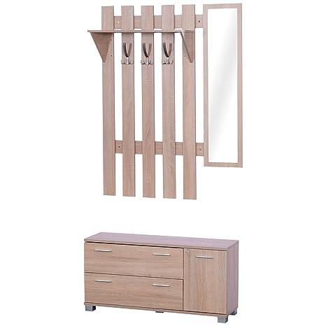 HOMCOM - Conjunto de Muebles de Entrada de 3 Piezas, Mueble ...
