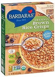 Barbara\'s Bakery Gluten Free Organic Brown Rice Crisps, 10 oz