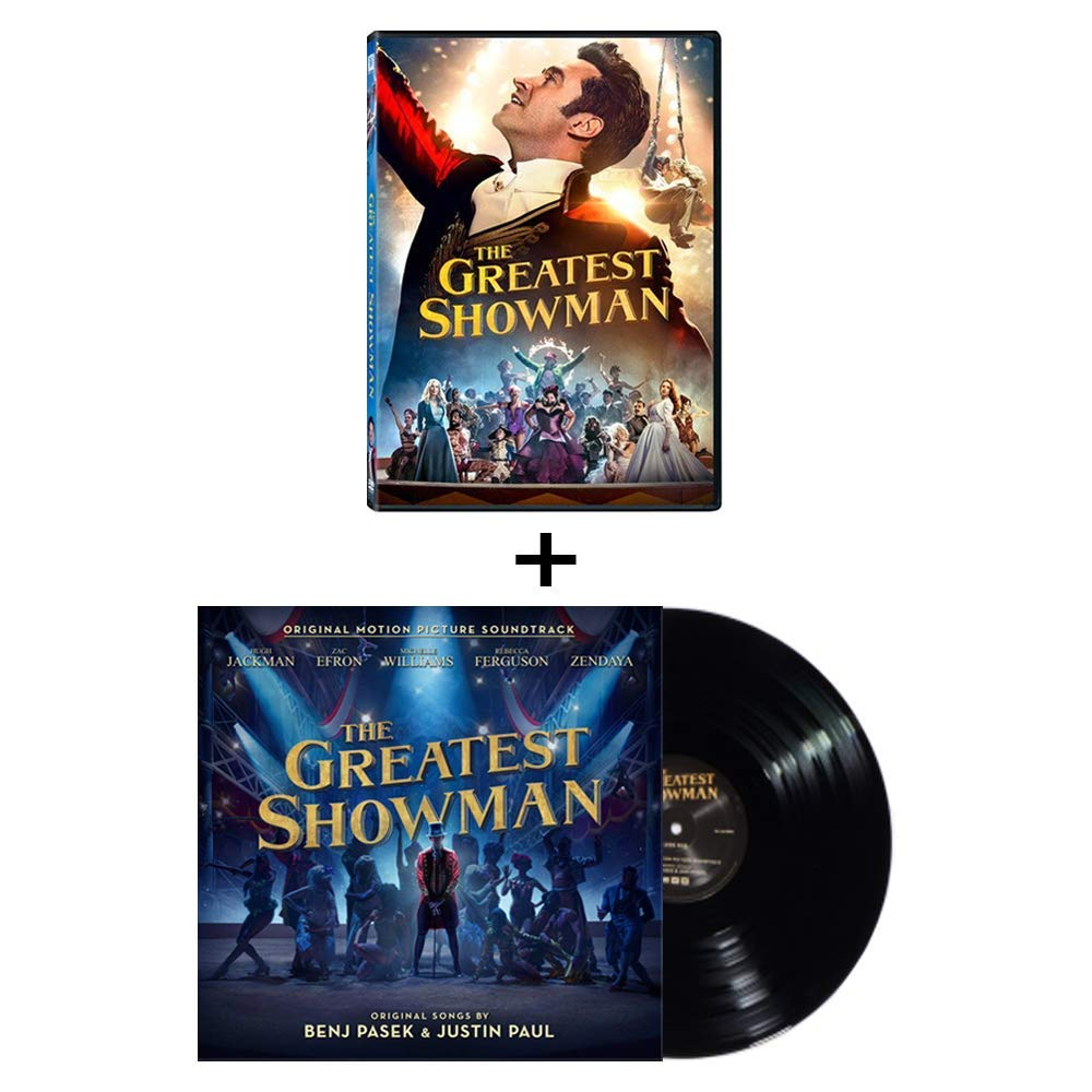 Amazon Com The Greatest Showman 2017 Movie Dvd Motion Picture Soundtrack 12 33rpm Vinyl Record Bundle Featuring Rewrite The Stars And This Is Me Hugh Jackman Michelle Williams Zac Efron Zendaya Rebecca