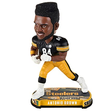 7d6ff280281 Image Unavailable. Image not available for. Color  NFL Headline Bobble Head    84 Antonio Brown Pittsburgh Steelers