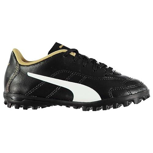 43c0e1dc8e1 Puma Kids Boys Classico TF Child Football Boots Lace Up Black White Gold UK