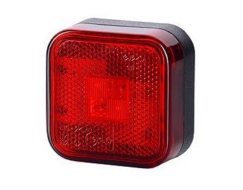 2 x 4 SMD LED Rot Begrenzungsleuchte Seitenleuchte 12V 24V mit E-Pr/üfzeichen Positionsleuchte Auto LKW PKW KFZ Lampe Leuchte Licht Hinten Universal
