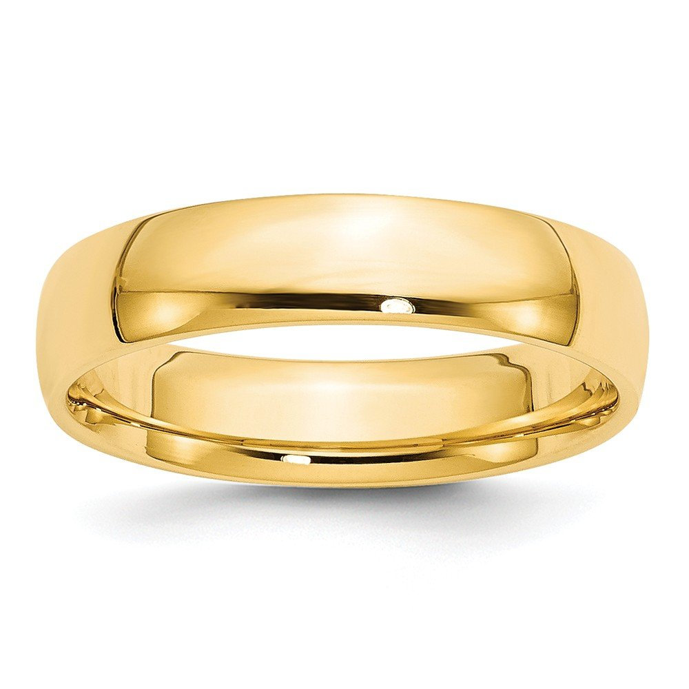 14K Yellow Gold 5mm Lightweight Comfort Fit Band Ring