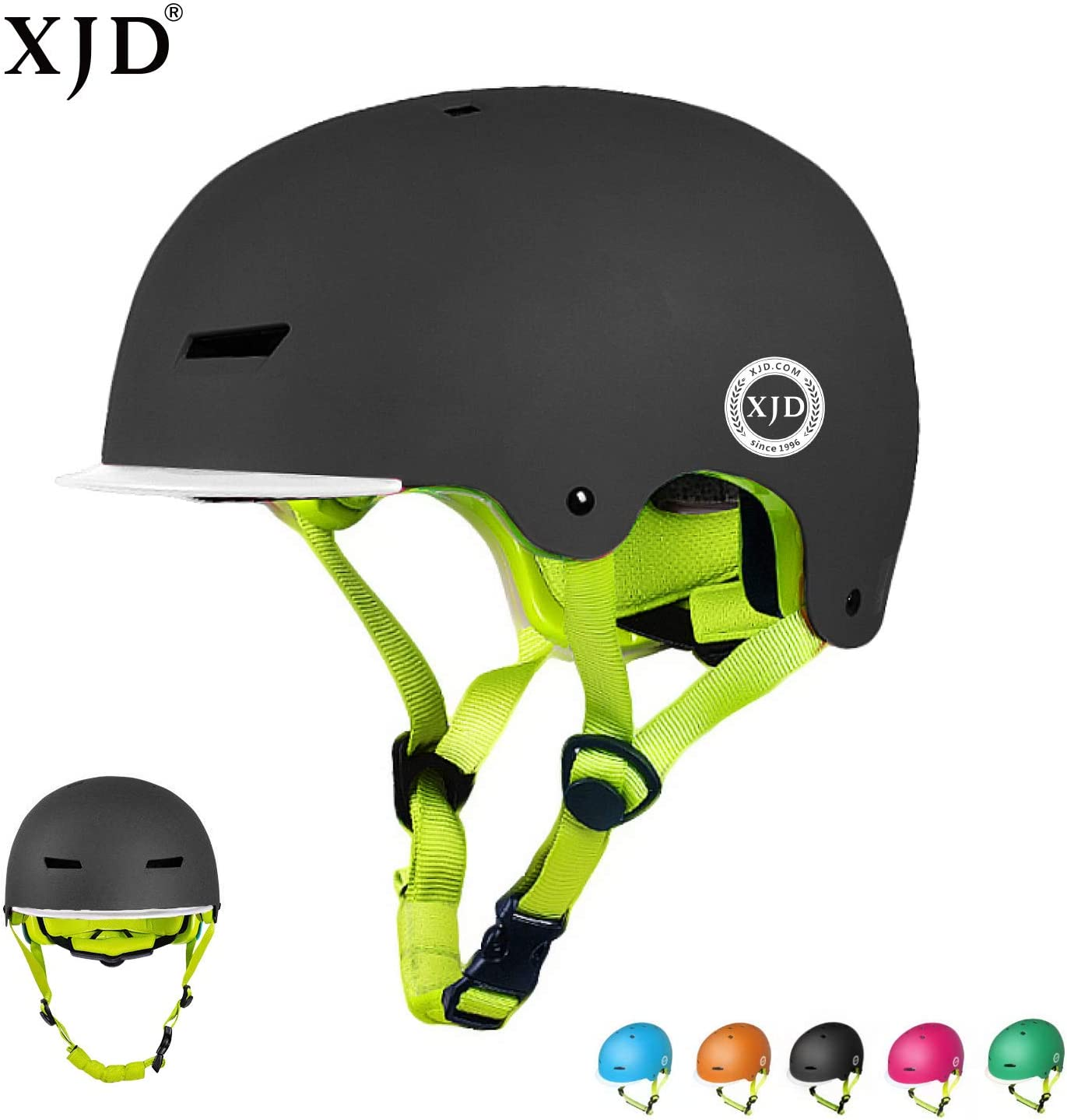 XJD Toddler Helmet Kids Bike Helmet Multi-Sport Cycling Helmet CPSC Certified Adjustable Child Helmet Kids Bicycle Helmet Boys Girls Safety Skateboard Skating Scooter Youth Helmet Ages 3-13 Years Old