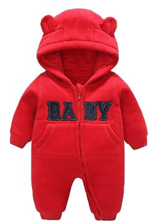05259b3d3da5b C-Princess ベビー服 カバーオール ロンパース ジャンプスーツ 着ぐるみ フード付き クマ耳 秋冬 新生児 赤ちゃん