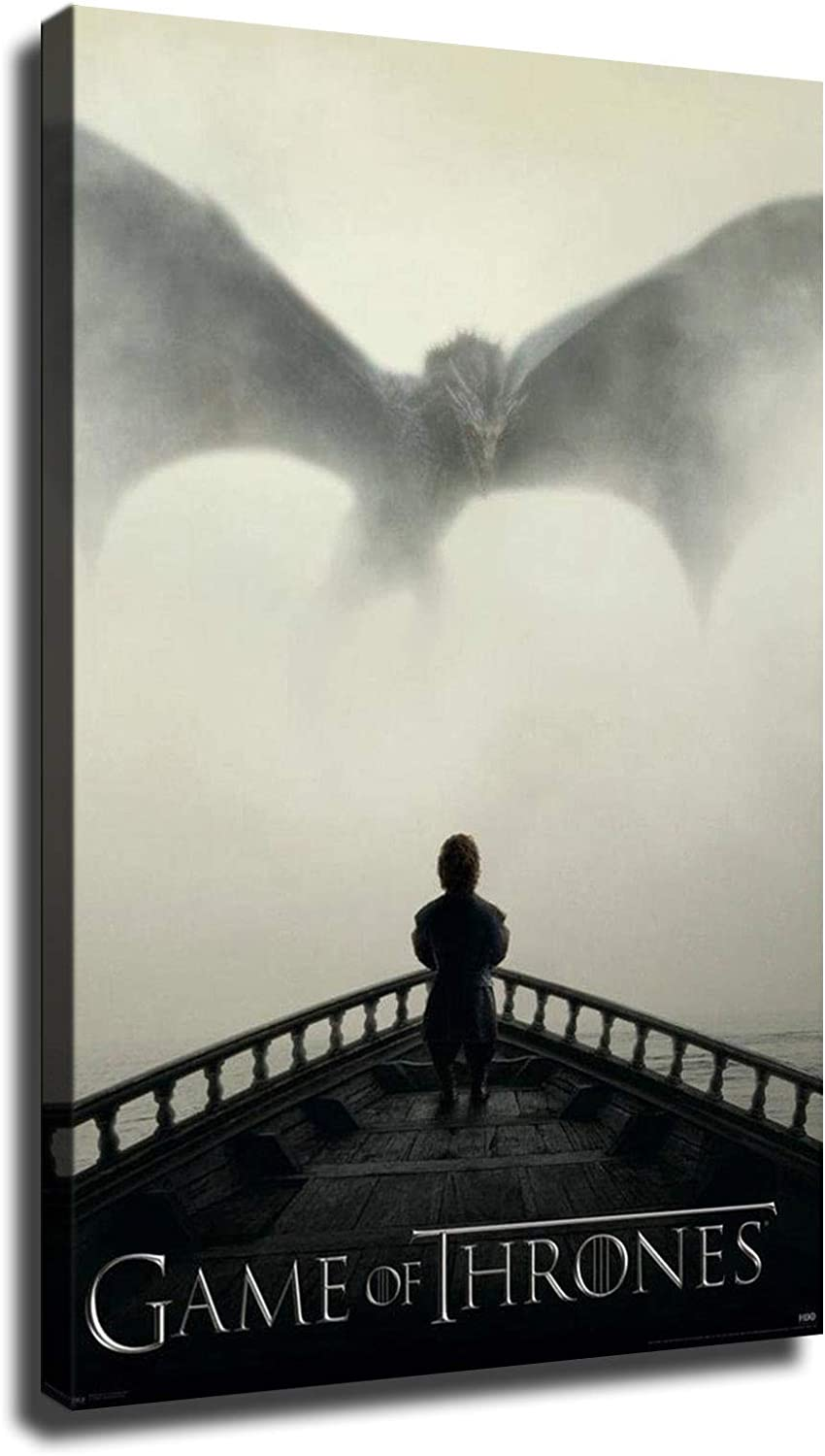 Small Demon Tyrion Lannister Game of Thrones Posters HD Canvas Print Wall Art Home Decor (16x24inch,Wooden Framed)