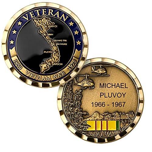 Personalized Custom Engraved Vietnam War Veteran Premium Brass
