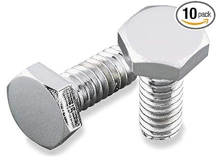 Pack of 10 1//4-20 x 3//4 Chrome Hex Bolt