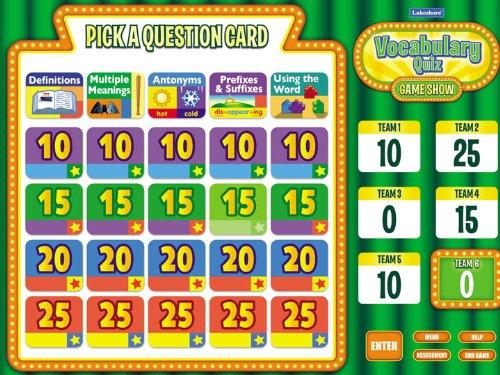 Interactive Vocabulary Quiz Game - Gr. 1-3
