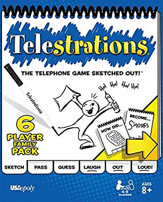 Telestrations Original 8 Player Board Game | #1 LOL Party Game | Play with your friends and Family | Hilarious Game for All Ages | The Telephone Game Sketched Out | Computers