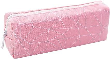 Fossrn Lienzo Estuches Escolares de Patrón Geométrico Estuche de Lápices 1 Cremalleras para niño niña adolescente (B): Amazon.es: Oficina y papelería
