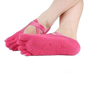 Calcetines de Yoga Calcetines de Yoga para Mujeres Puntos de ...