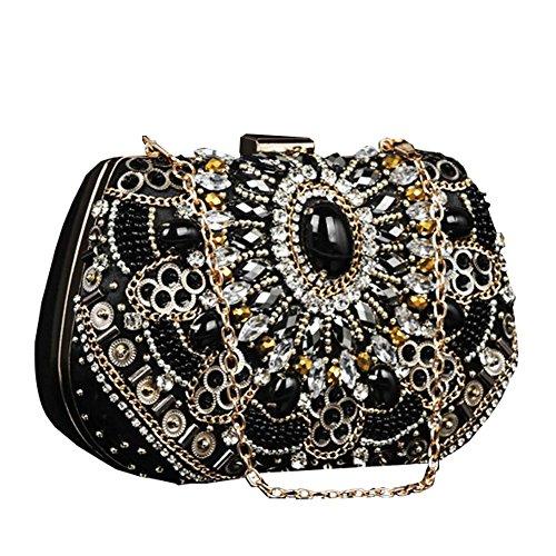 à black sac embrayage soirée x mariage 18 dame de de diamant main mariée bourse fête sac cm 13 luxueux xqU7HRP4n