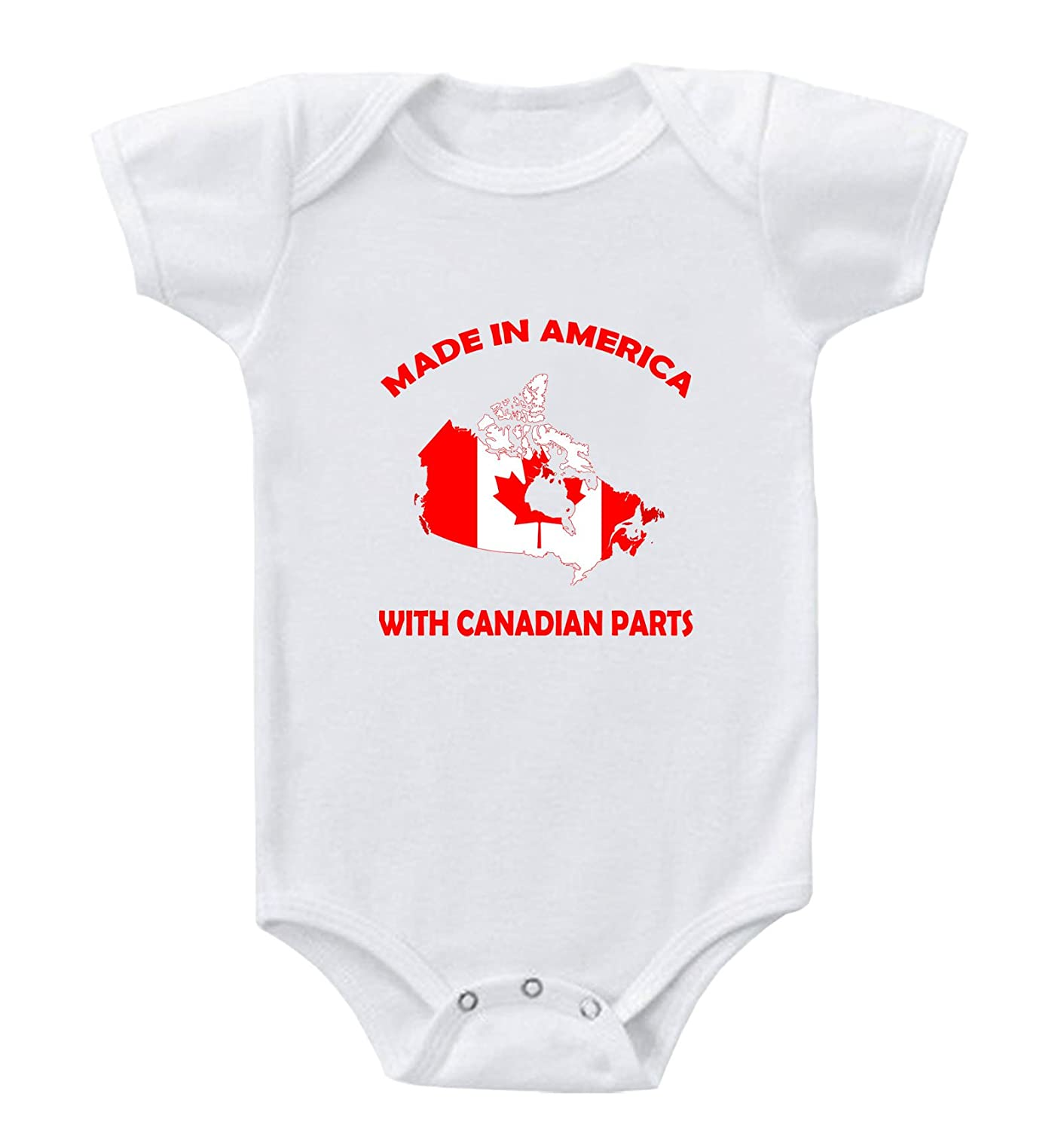 Made In America With Canadian Parts Infant Toddler Baby Bodysuit One Piece BBFLAGMIA006