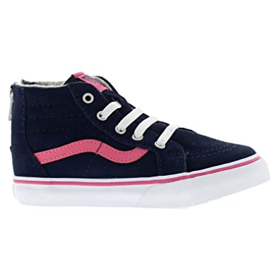free delivery temperament shoes good selling Amazon.com: Vans Toddlers SK-8 Hi MTE Navy/Pink Fashion ...