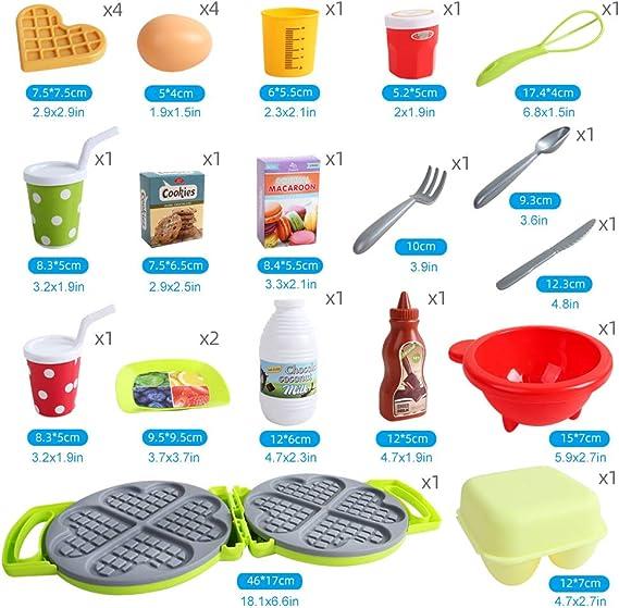 BeebeeRun 25pcs Alimentos de Juguete Accesorios de Cocinas Juguete ...