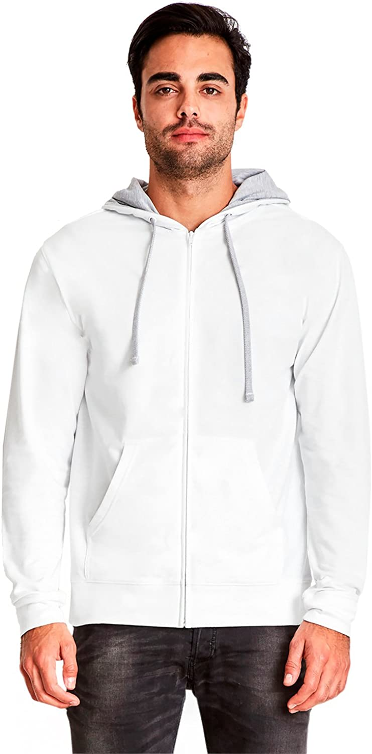 White//Heather Grey 9601 Clementine French Terry Zip Hoody XL