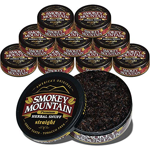 Smokey Mountain Snuff 10 Can Box (Straight)