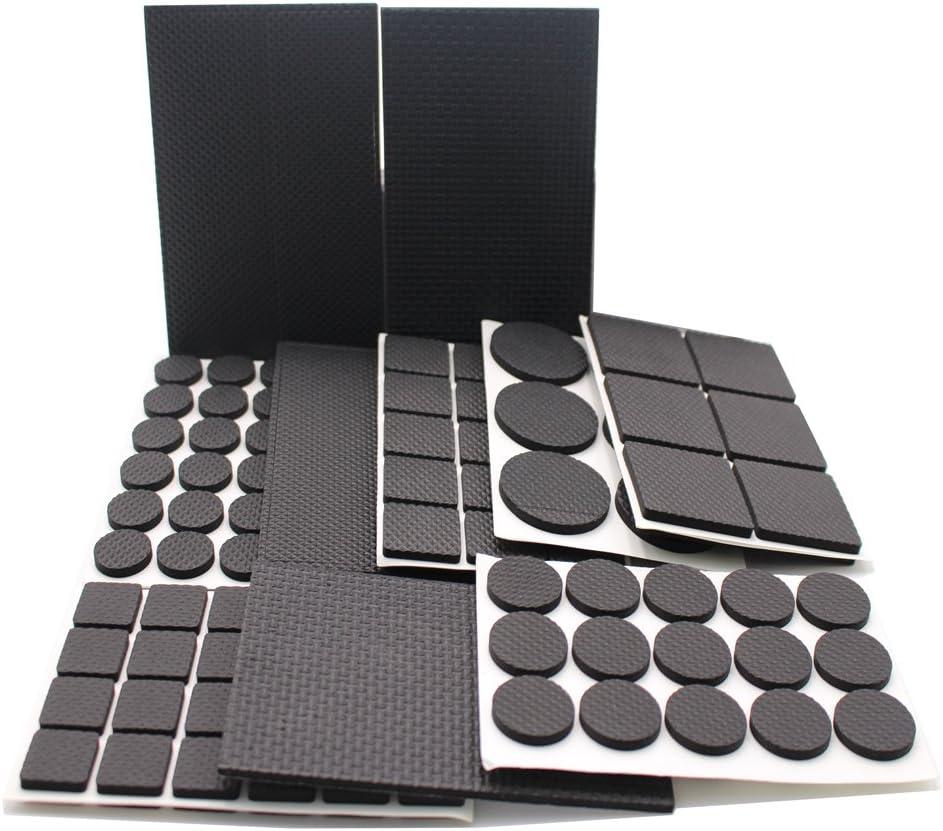 186 almohadillas de goma con diseño antideslizante para patas de muebles, ligeras y resistentes; unidades en varios tamaños, de la marca REYALO