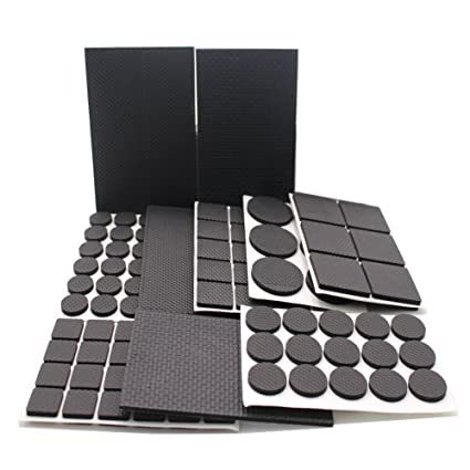 186 almohadillas de goma con diseño antideslizante para patas de muebles, ligeras y resistentes;