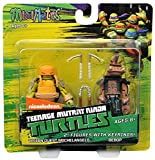 Teenage Mutant Ninja Turtles Minimates w/Keyrings - Vision Quest Michelangelo & Bebop