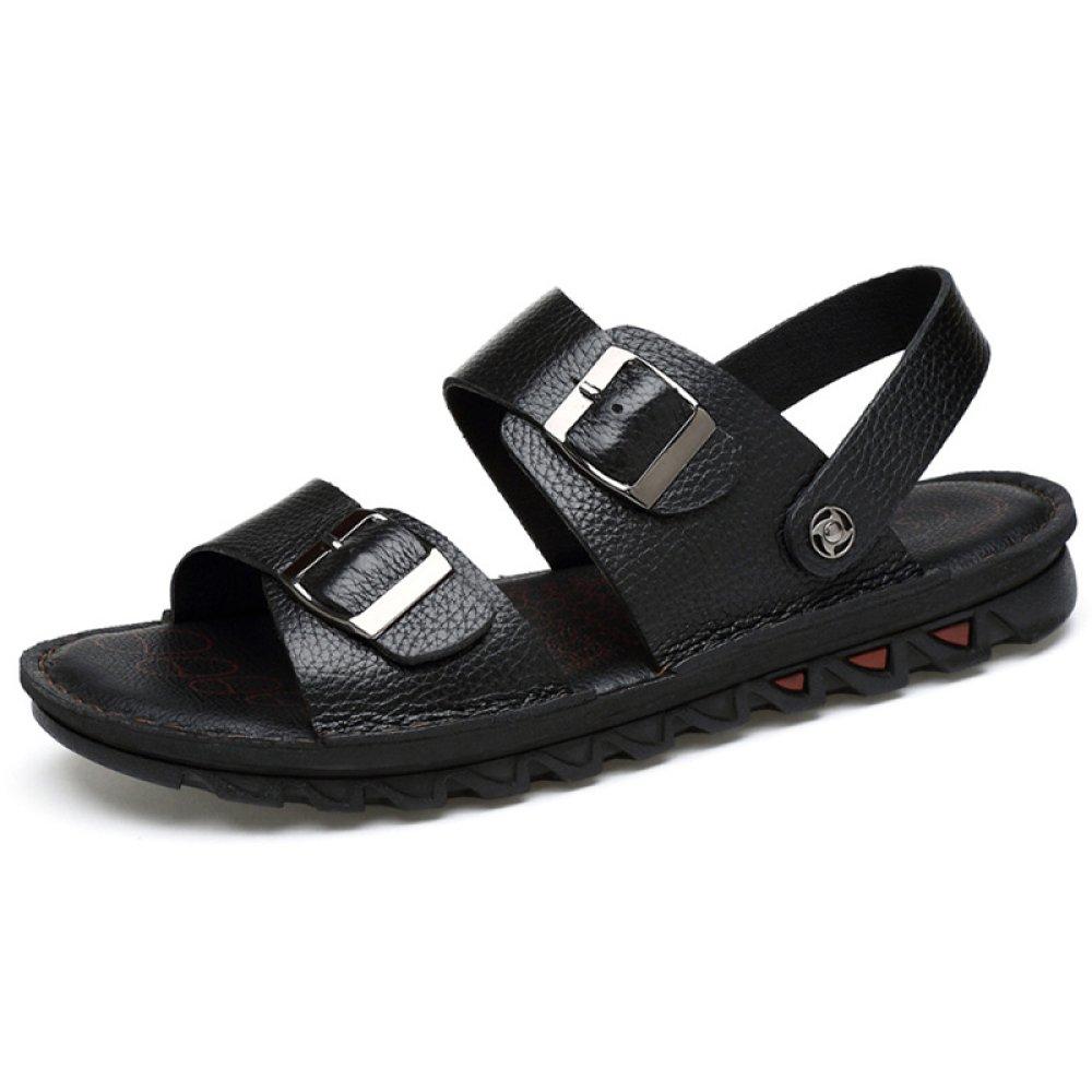 FCBD Mens Flip-Flops Leder Outdoor Sandalen Sommer Sport Open Toe Casual Strand Schuhe Für Holiday Beach Walking Hausschuhe