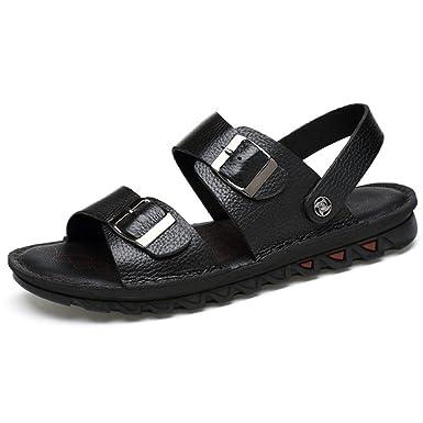 8845d1d35ad516 FCBD Mens Flip-Flops Leder Outdoor Sandalen Sommer Sport Open Toe Casual  Strand Schuhe Für Holiday Beach Walking Hausschuhe  Amazon.de  Bekleidung