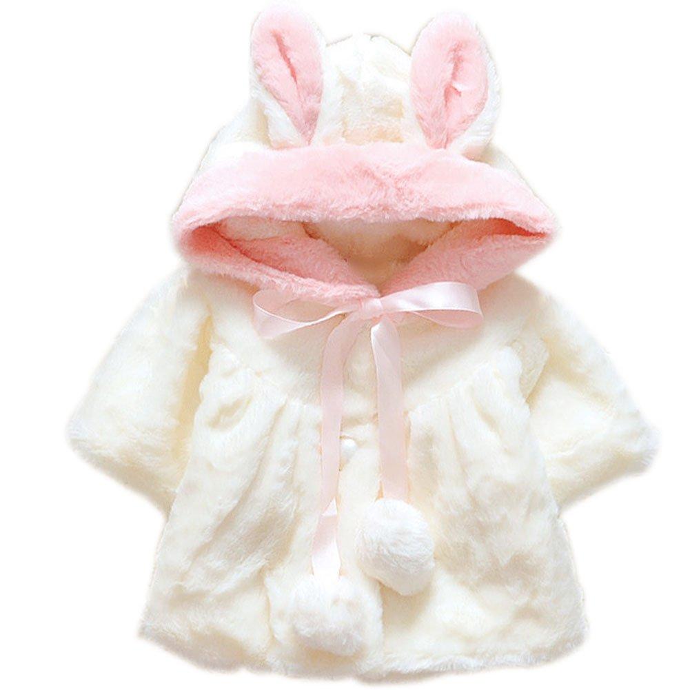 ARAUS Giacca del Mantello Cappotti Invernali in Pelliccia da Neonata Vestiti Caldi Spessi Bimba 9700P10