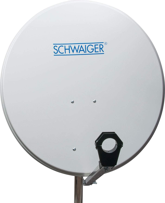 Schwaiger SPI2080011 - Antena parabólica básica de TV (80 cm, aluminio), plateado